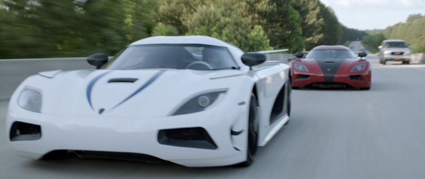 Three Koenigseggs race in this crucial sequence in the film.