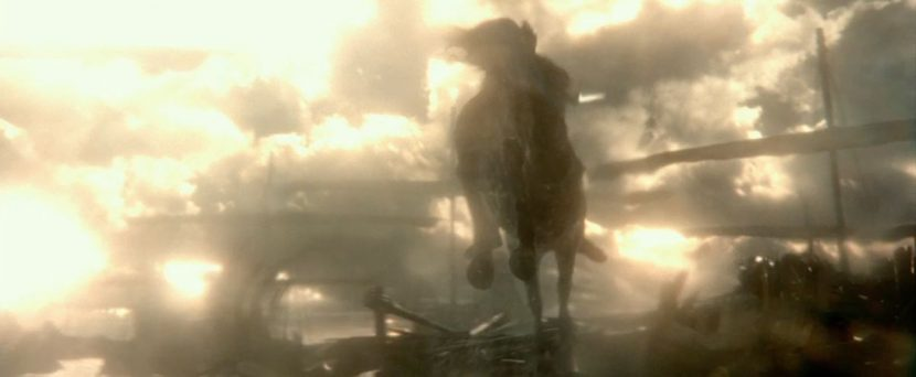 A still from the film's trailer showing part of the horse sequence.