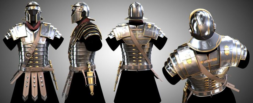 Legion armor render.
