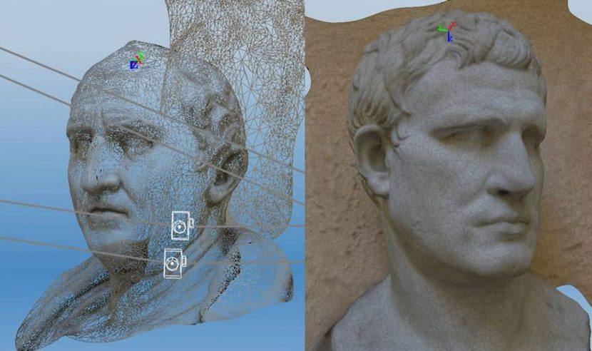 A photogrammetry example (note this was done using Autodesk 123D).