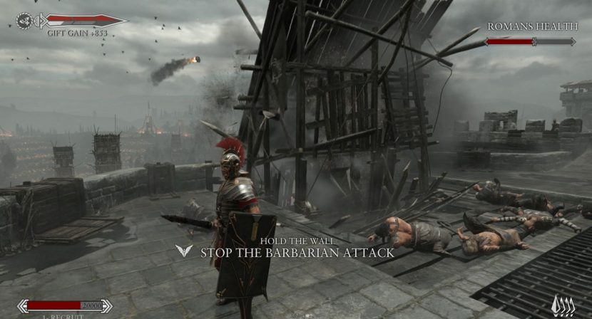 A seige tower from the game.