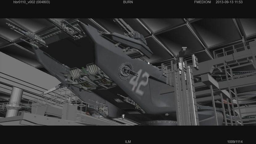 Helicarrier bay - ILM in-progress shot.