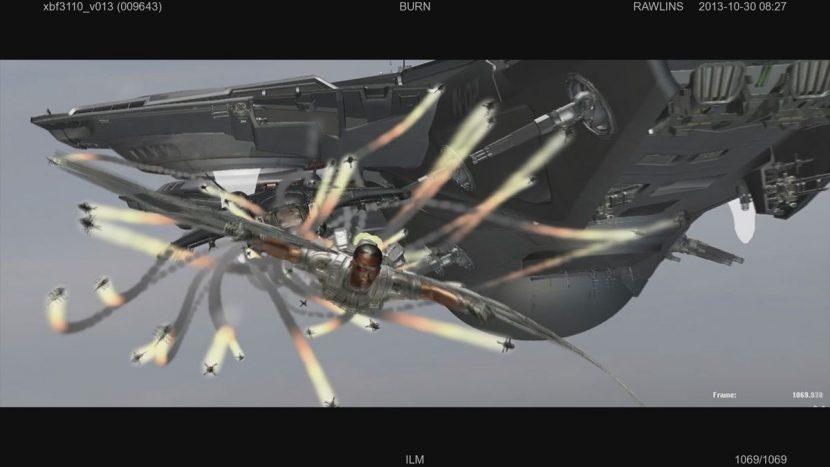 Falcon - in progress ILM shot.