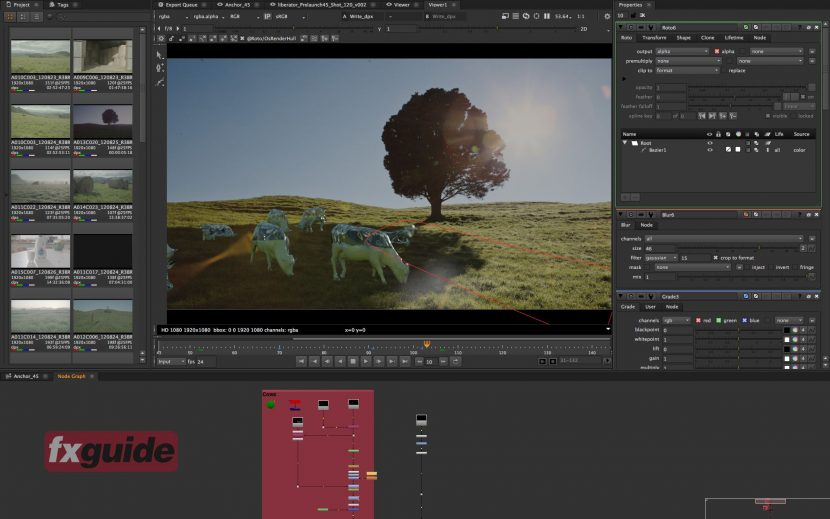 Compositing as you would expect from the Foundry