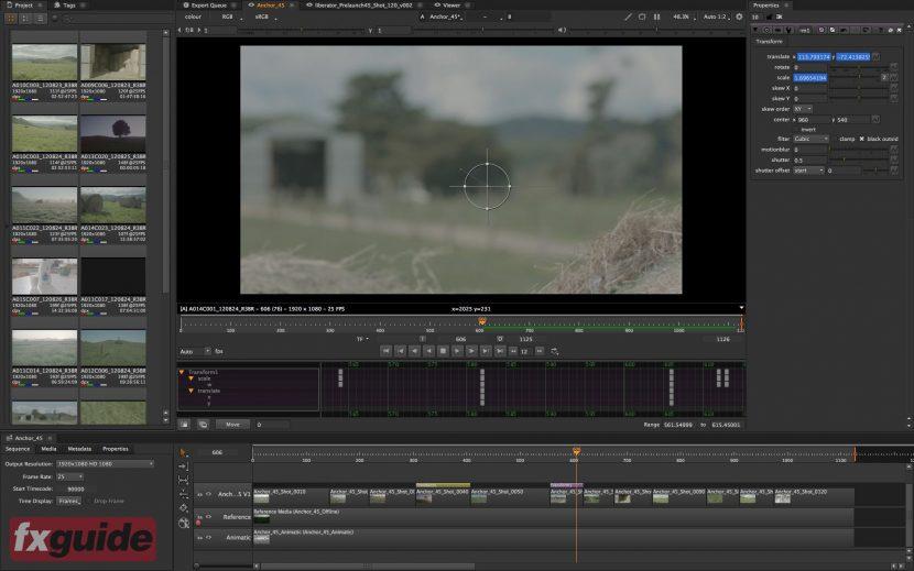 Animation keyframes in the timeline