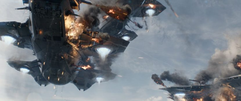 The Helicarriers begin destroying each other.