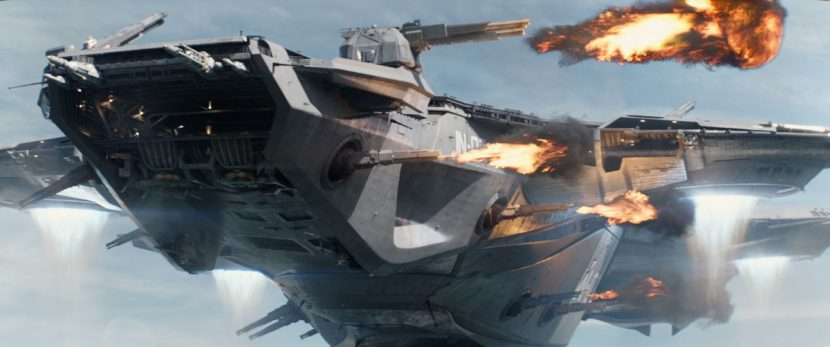A Helicarrier on the attack.