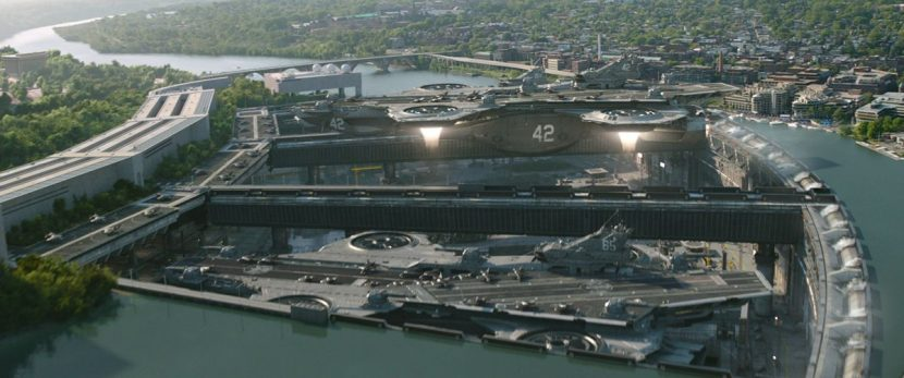 The Helicarriers launch.