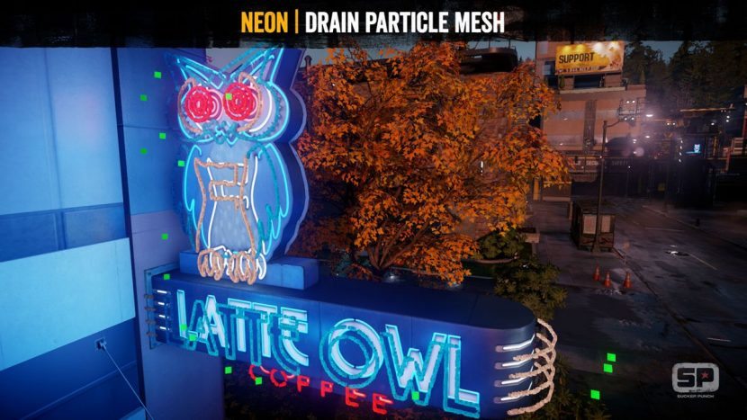Neon: drain particle mesh.