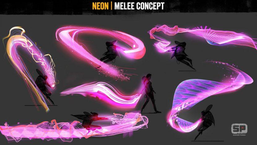 Neon powers concept.