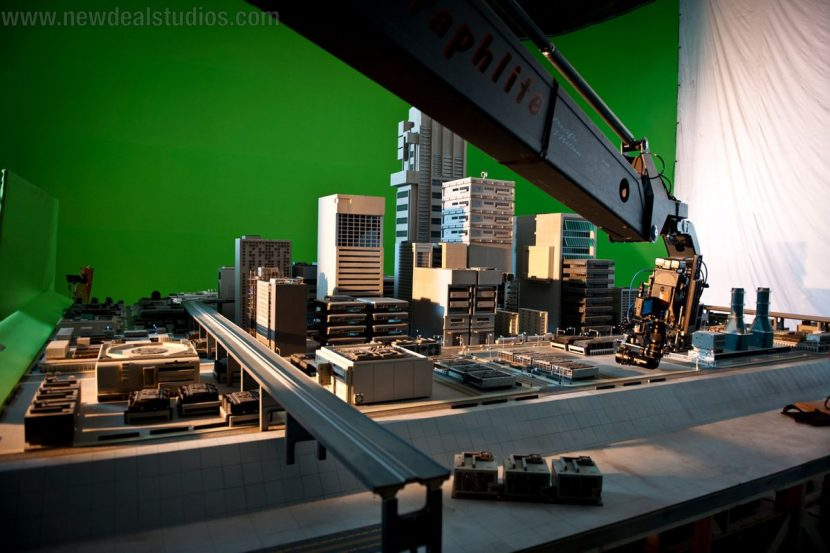 Behind the scenes at New Deal Studios on the shoot for a Vizio commercial.