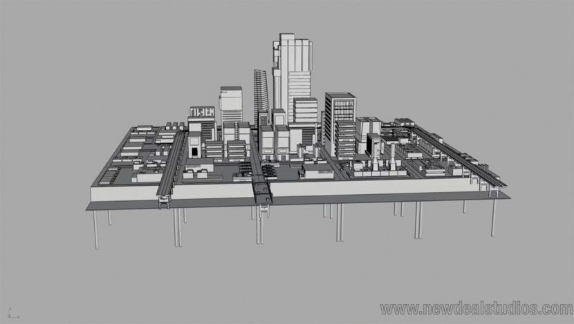 A Rhino model of the city for the Vizio commercial.