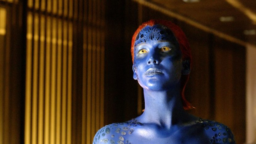 Mystique's make-up effects were created by Legacy Effects, and shapeshifts by Digital Domain.