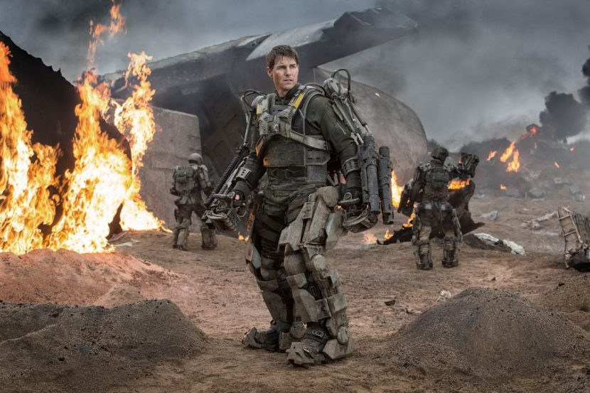 Tom Cruise in the exo-suit.