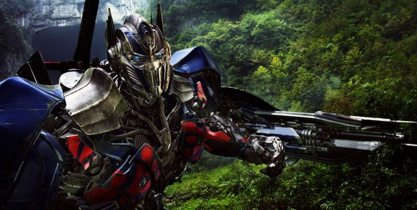 Optimus Prime contemplates a face-off with the Dinobots.