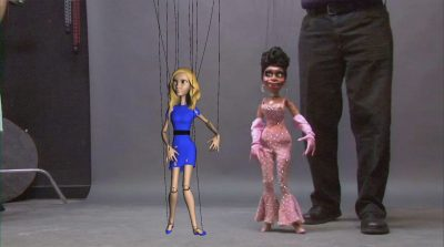 CG marionette with live action reference.