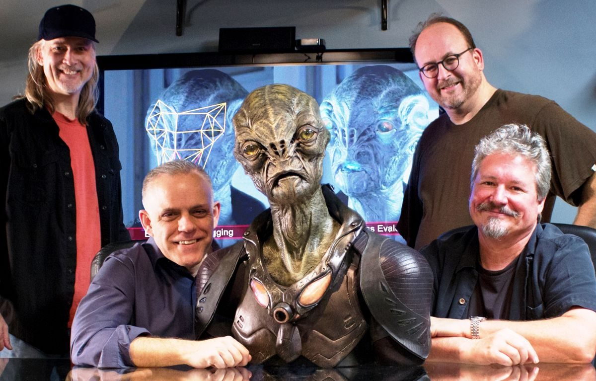 MastersFX's dMFX team: Andre Bustanoby, Johnathan Banta, Cochise, Todd Masters (standing) and Chris Brown.