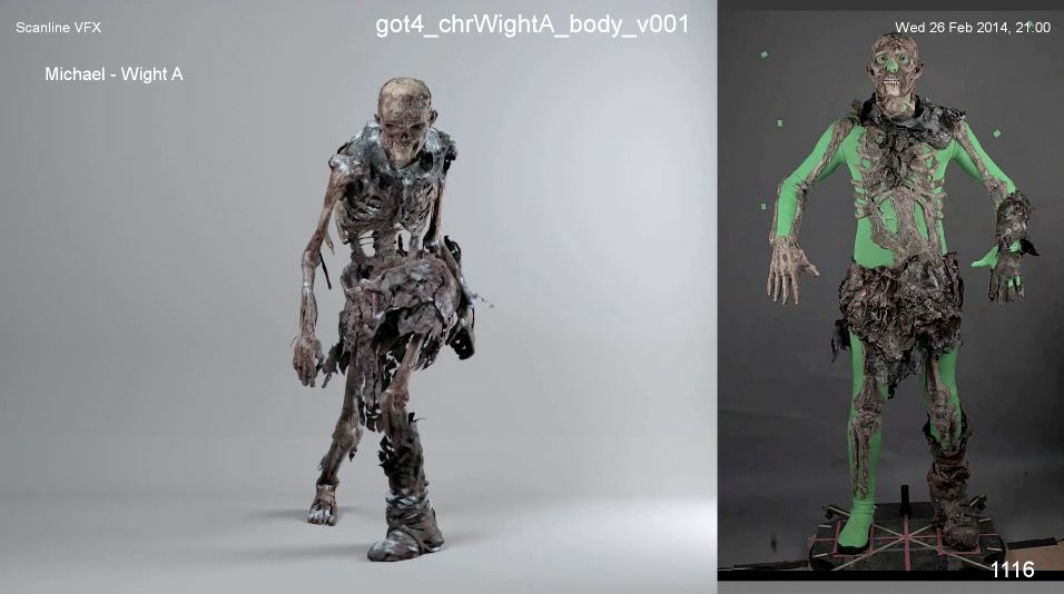 Wight reference and Scanline's VFX.