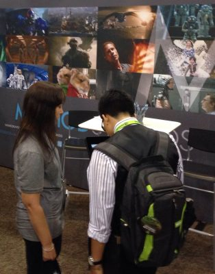 Method Studios' booth at the Job Fair.