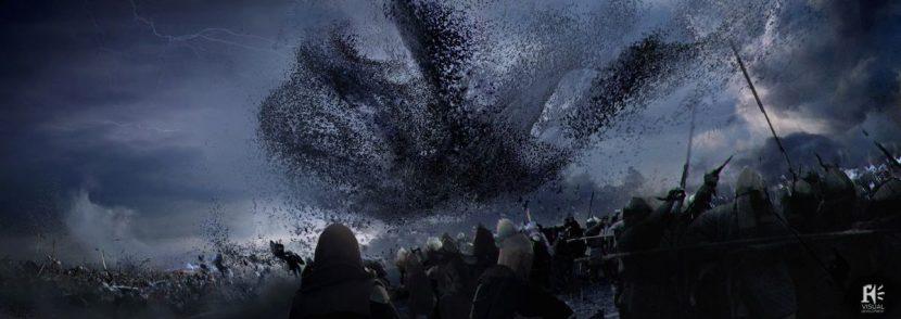 Concept art of the bat attack 'hand'.