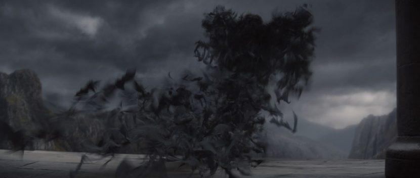 Vlad transmutates into hordes of bats.