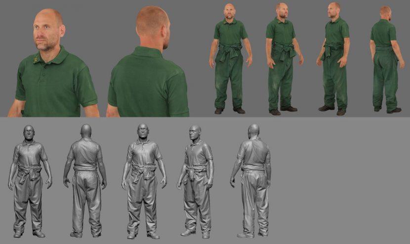 Scan and textures for Al (Matt Bardock).