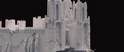 CG castle model.