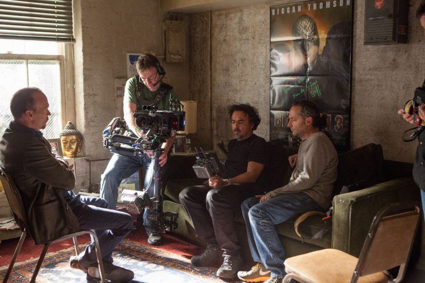 Scenes filmed inside Riggan's dressing room involved mirror shots that would feature the crew - Rodeo was able to provide a solution that removed them to produce seamless shots.