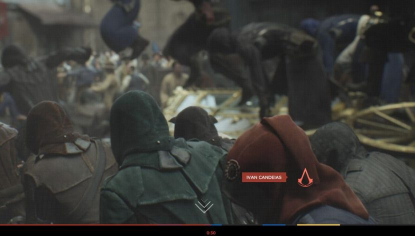 Stopping the frame in the interactive trailer.