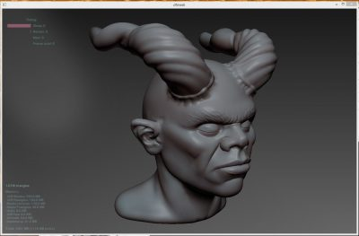 Greg Brown's first test sculpt on the test ap.