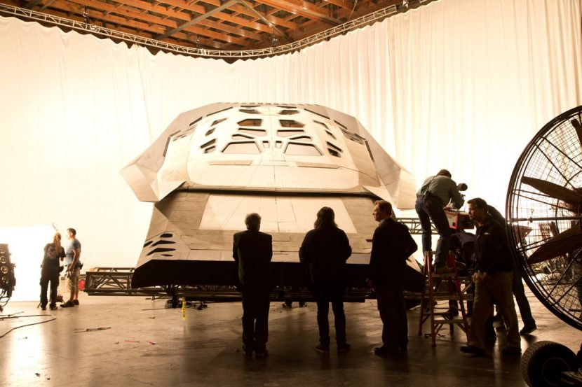 New Deal Studios had to build the Ranger and other spacecraft to match life-size prop builds.