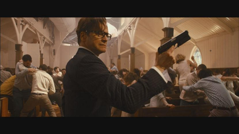Harry mid-fight at the church.