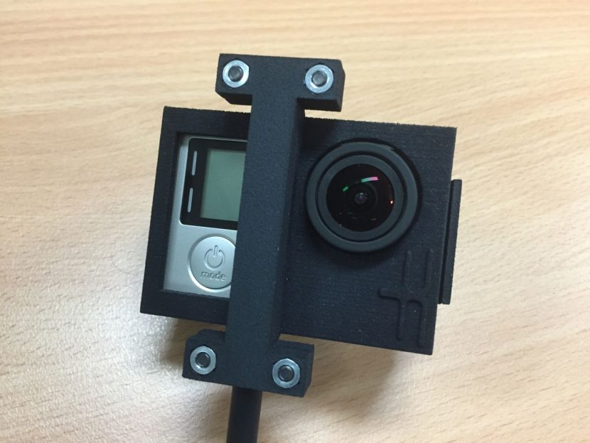 The GoPro HERO4 in its housing.