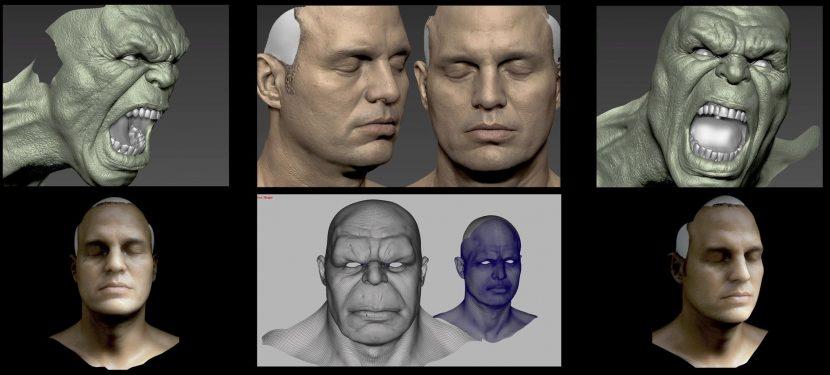 Hulk sculpts.