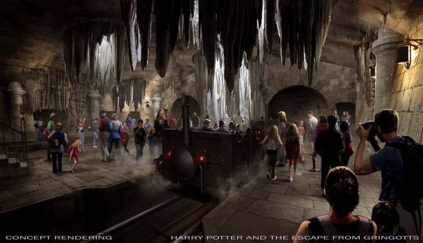 A concept image for Escape from Gringotts.