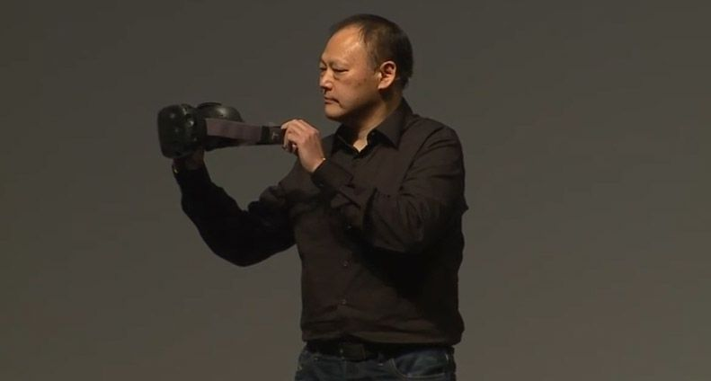 HTC CEO Peter Chou announcing the Vive on stage