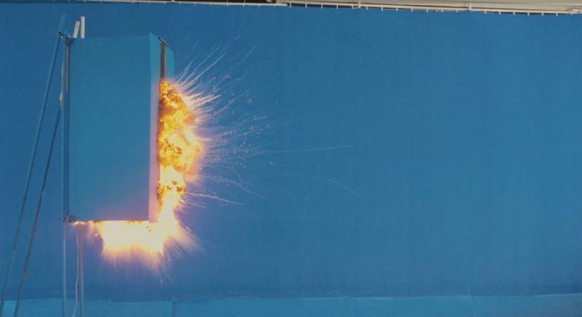 Live action VFX elements for some craft explosions were another feature of the film.