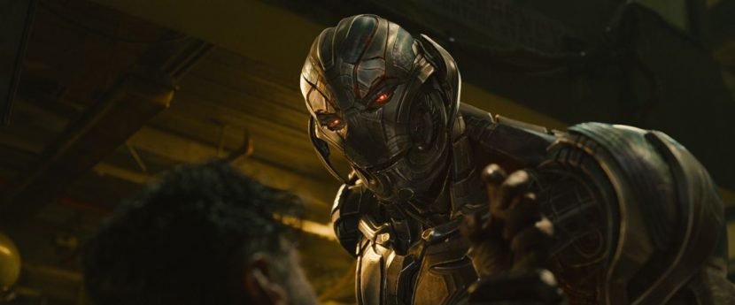 Ultron Prime interacts with arms dealer Ulysses Klaue (Andy Serkis).