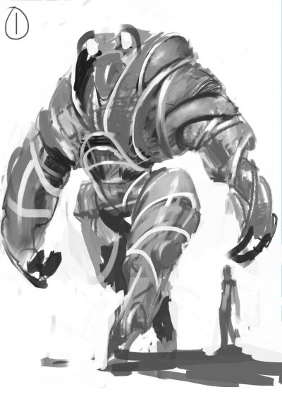Early concept art for the Sentry.