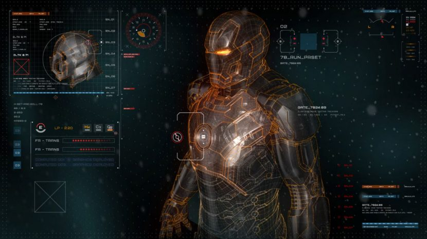 Territory created UIs for the film, including this Iron Man screen.