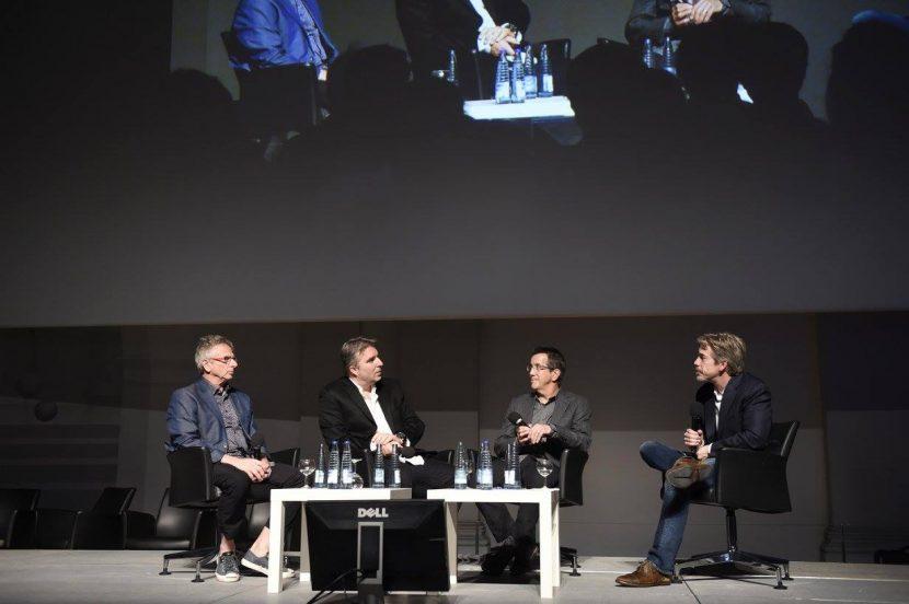 Scott Ross (L), Marc Weigert Method Studios, Chris DaFaria Warners Bros. & Dave Gouge Weta (photo by Reiner Pfisterer)