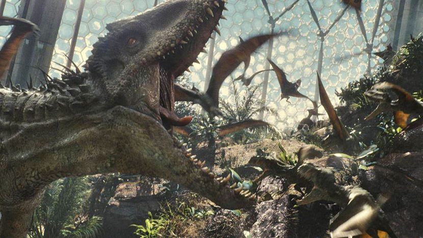 Indominus rex calls other dinos to action.