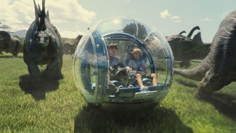 A scene from Jurassic World.