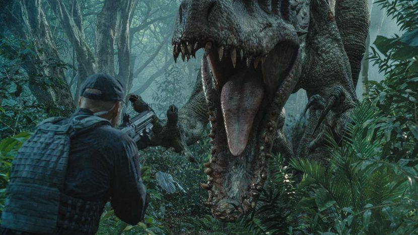 The Indominus rex attacks.