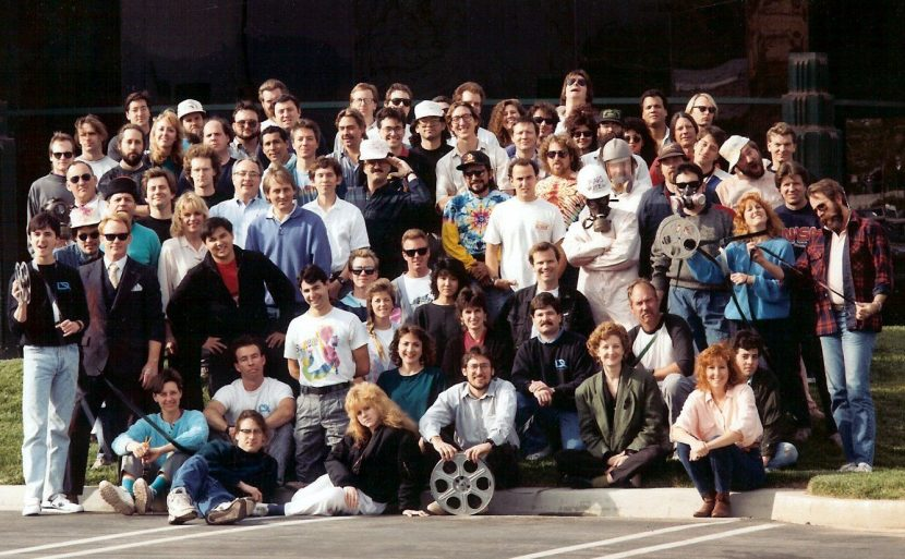 Dream Quest Images crew shot for Total Recall. Image courtesy of Shawn Broes.