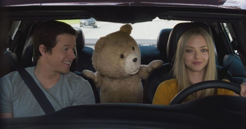 John, Ted and Samantha go for a drive.