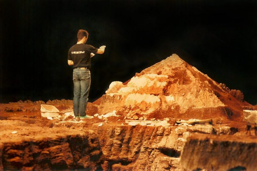 Miniature background mountains for Mars (although not the enormous mountain model that was rigged to blow up). Image courtesy of Shawn Broes.