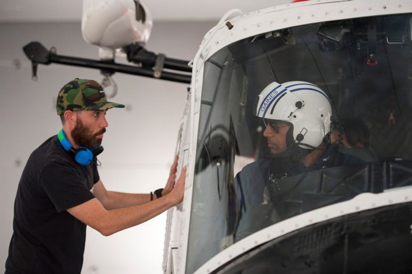 Director Brad Peyton and Dwayne Johnson.