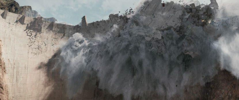 Hoover Dam disintegrates.