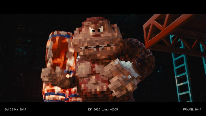 Donkey Kong in voxel form.